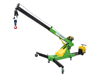 Battery power mobile mini crane