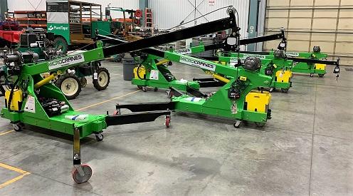 Microcranes 174 Portable Maintenance Cranes Small Floor